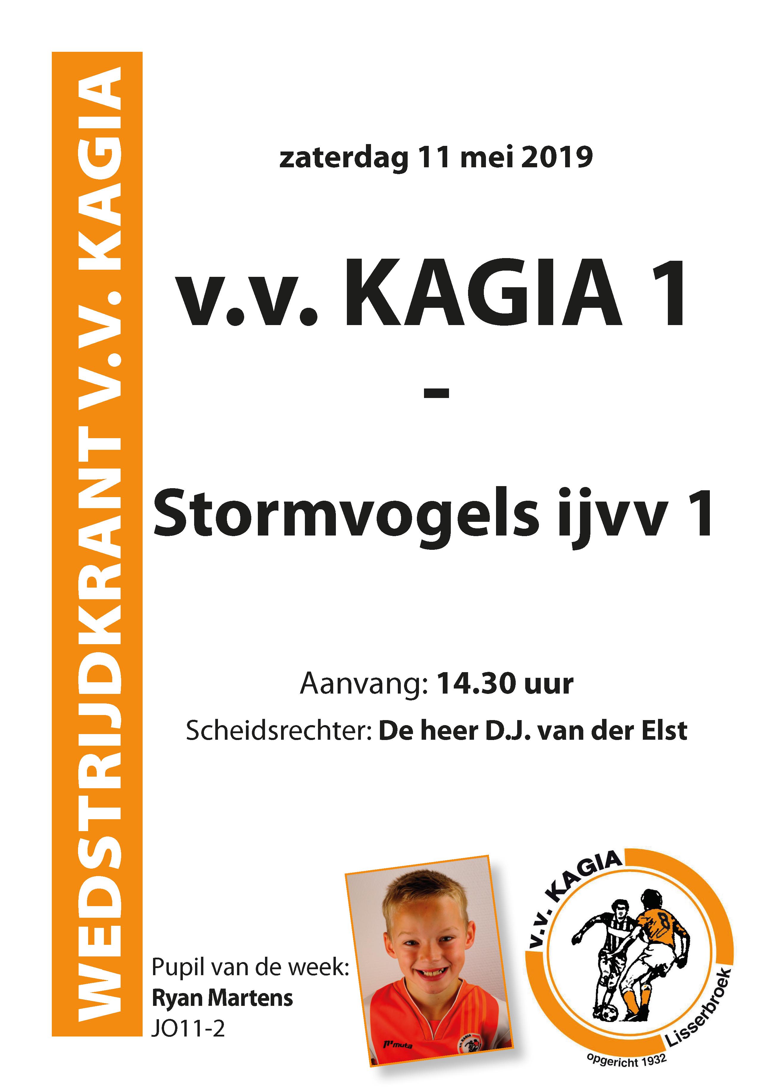 Wedstrijdkrantje | v.v. Kagia 1 – Stormvogels ijvv 1