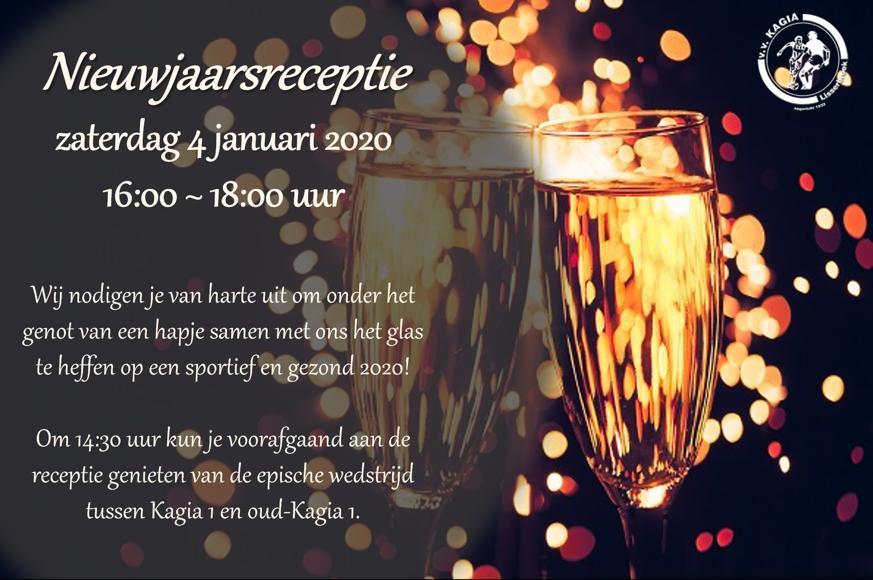 4 Januari 2020: Nieuwjaarsreceptie v.v. Kagia