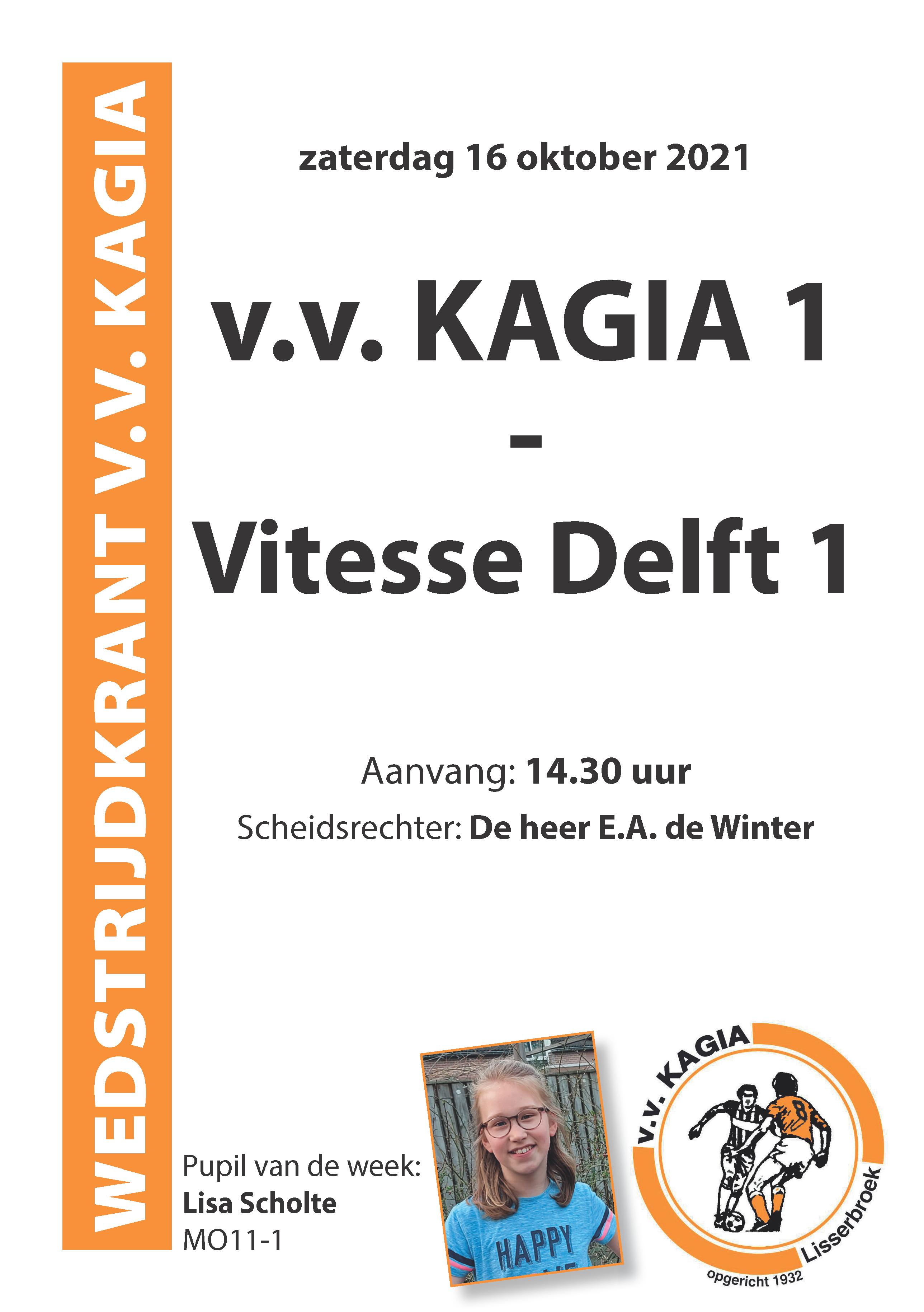 Wedstrijdkrantje | Kagia - Vitesse Delft